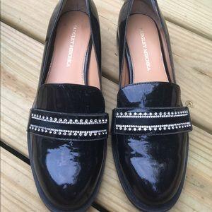 Badgley Mischka Black Patent Leather Loafers 7.5M